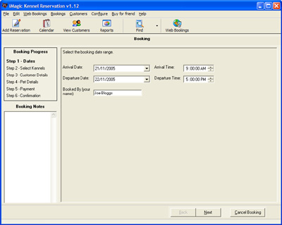 Click to view iMagic Kennel Reservation 1.21 screenshot