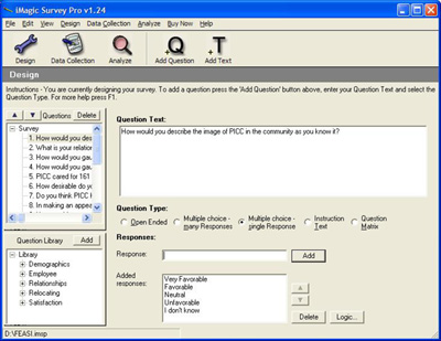 Click to View Full ScreenshotiMagic Survey Pro Software 1.24 screenshot